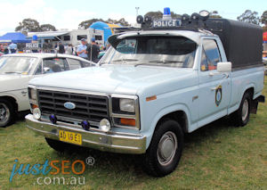 Ford F100 Police cage truck