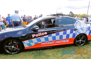 Mark Winterbottom Ford FPV Highway Patrol car