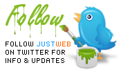 Follow JustWeb on Twitter