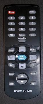 iPod dock remote control