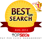 #1 Pay Per Click Management Company August 2012