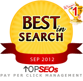 #1 Pay Per Click Management Company September 2012